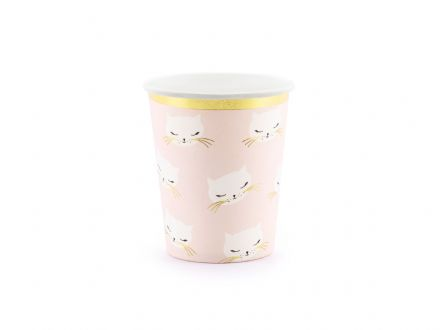Pink & Gold Cat Party Cups